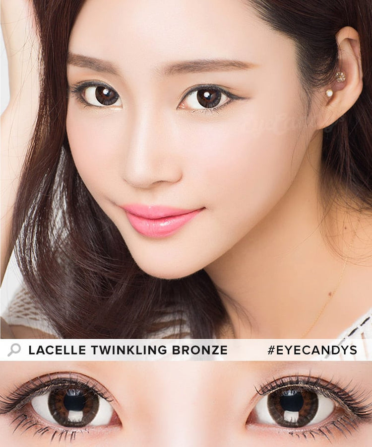 Buy Bausch & Lomb Lacelle Dazzle Ring Twinkling Bronze Circle Lenses | EyeCandys
