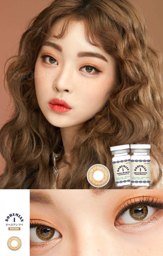 EyeCandys Pink Label Obsession Brown colored contacts circle lenses - EyeCandy's