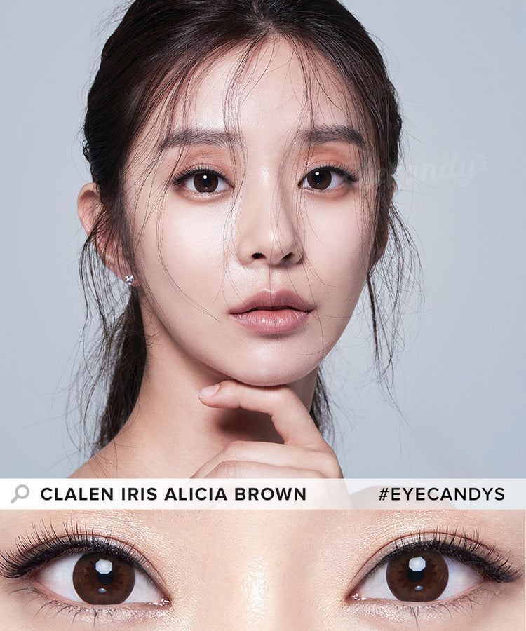 Buy Clalen Iris Alicia Brown (Toric) Circle Lenses | EyeCandys