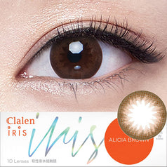 Clalen Iris Alicia Brown colored contacts circle lenses - EyeCandy's