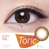 Clalen Iris Alicia Brown (Toric) colored contacts circle lenses - EyeCandy's
