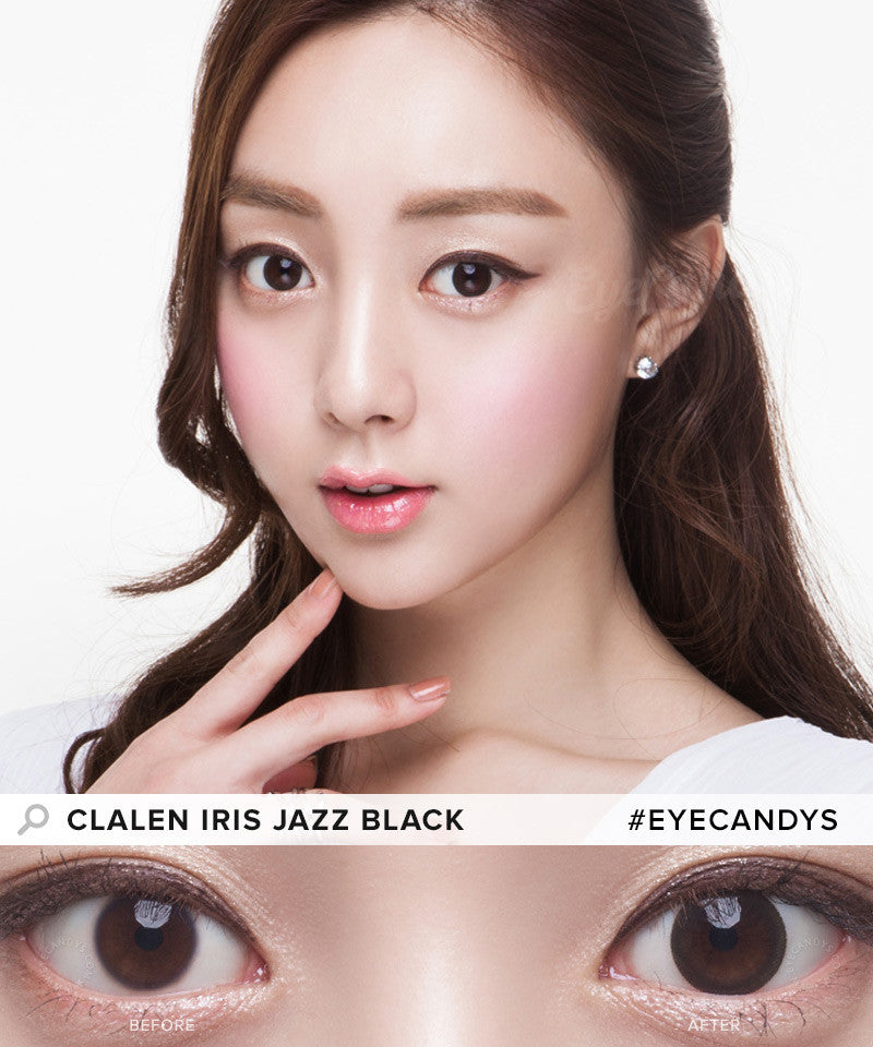 Clalen Iris Jazz Black colored contact lenses - EyeCandys
