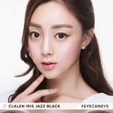 Load image into Gallery viewer, Clalen Iris Jazz Black colored contact lenses - EyeCandys