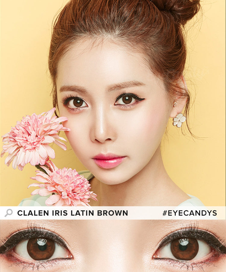 Buy Clalen Iris Latin Brown Circle Lenses | EyeCandys
