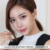Clalen Iris Rhapsody Brown colored contacts circle lenses - EyeCandy's