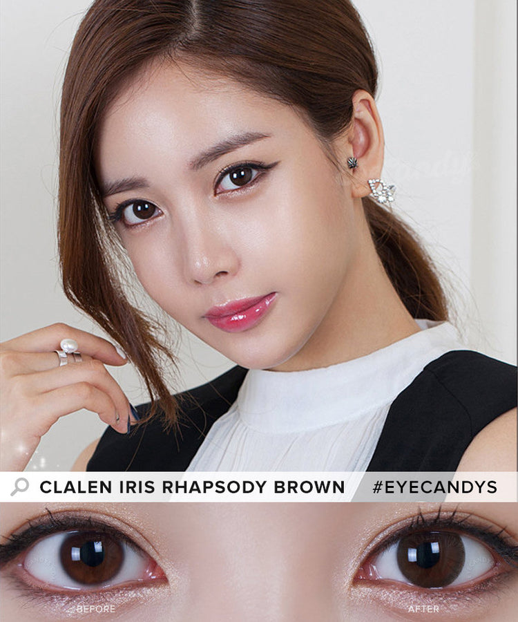 Buy Clalen Iris Rhapsody Brown Circle Lenses | EyeCandys