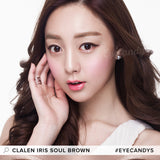 Clalen Iris Soul Brown colored contacts circle lenses - EyeCandy's