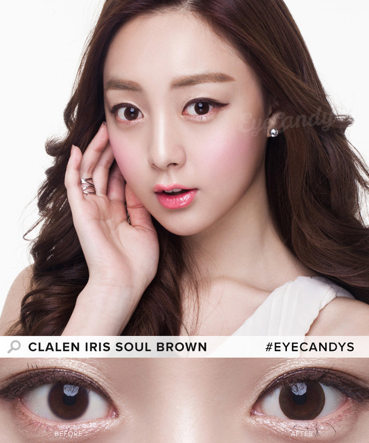 Buy Clalen Iris Soul Brown Circle Lenses | EyeCandys
