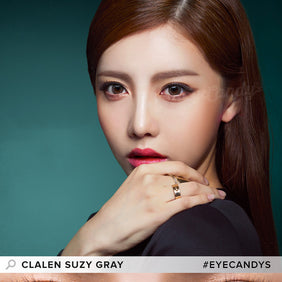 Clalen Iris Suzy Gray colored contacts circle lenses - EyeCandy's