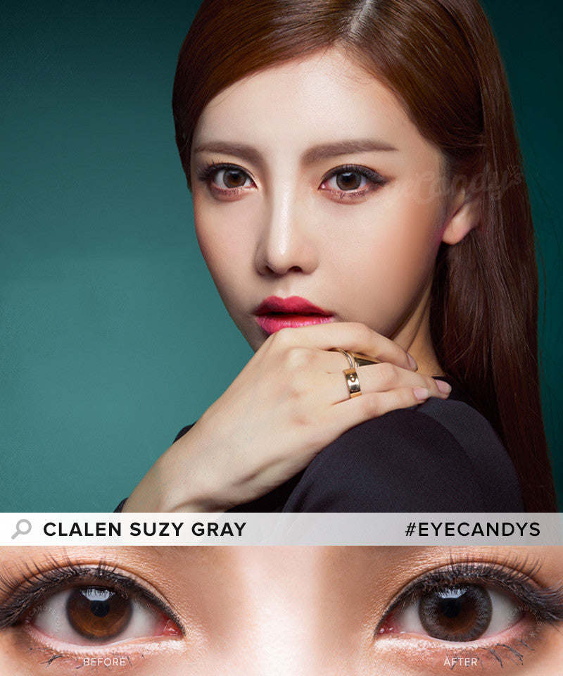 Buy Clalen Iris Suzy Gray Circle Lenses | EyeCandys
