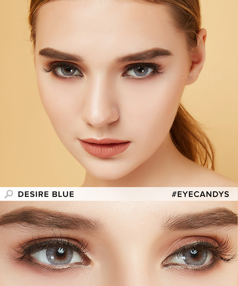 EyeCandys Desire Glacier Blue colored contacts circle lenses - EyeCandy's