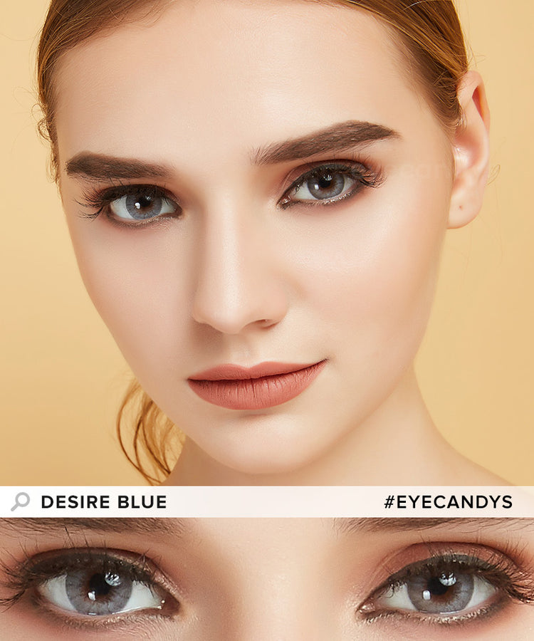 Buy EyeCandy's Desire Glacier Blue Colored Eye Contacts | EyeCandys