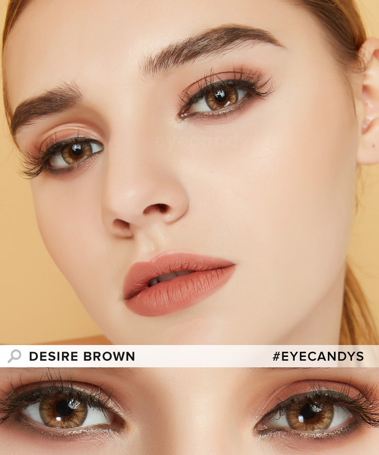 Buy EyeCandy's Desire Toffee Brown Colored Eye Contacts | EyeCandys