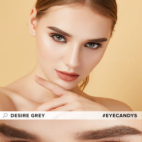 EyeCandys Desire Mist Grey colored contacts circle lenses - EyeCandy's