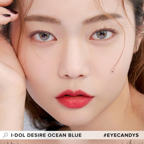 i-DOL Desire Ocean Blue colored contacts circle lenses - EyeCandy's