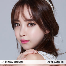 EyeCandys Pink Label Diana Brown colored contacts circle lenses - EyeCandy's