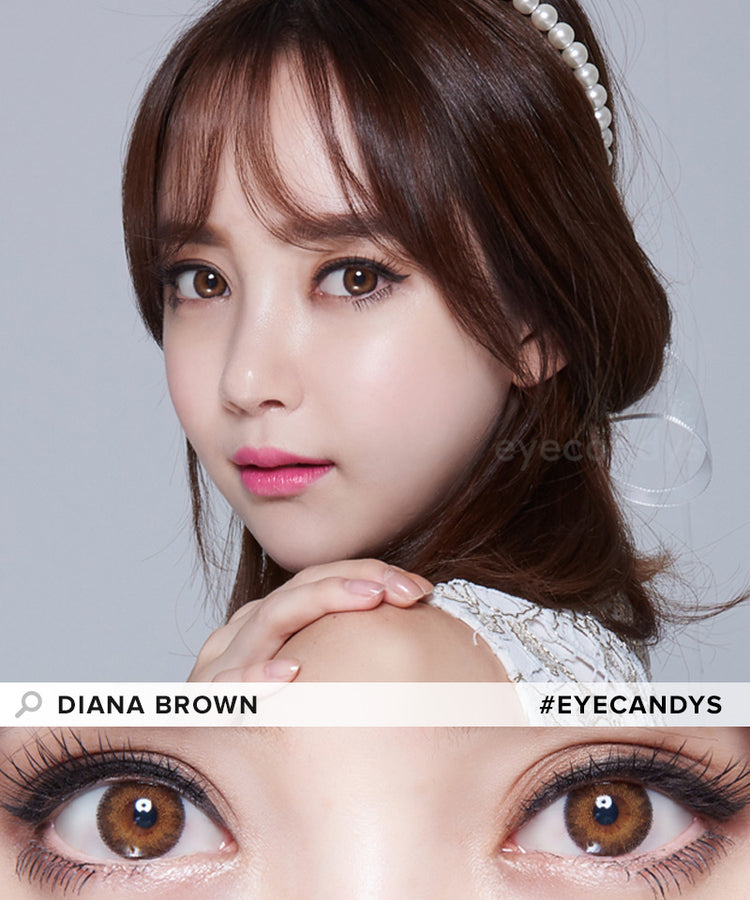 Buy EyeCandys Diana Brown Colour Contact Lenses | EyeCandys