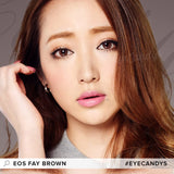 EOS Fay Brown colored contacts circle lenses - EyeCandy's
