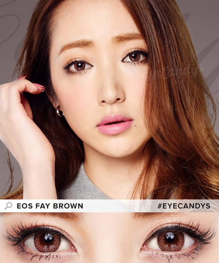 Buy EOS Fay Brown Colored Contacts | EyeCandys