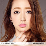 EOS Fay Grey colored contacts circle lenses - EyeCandy's