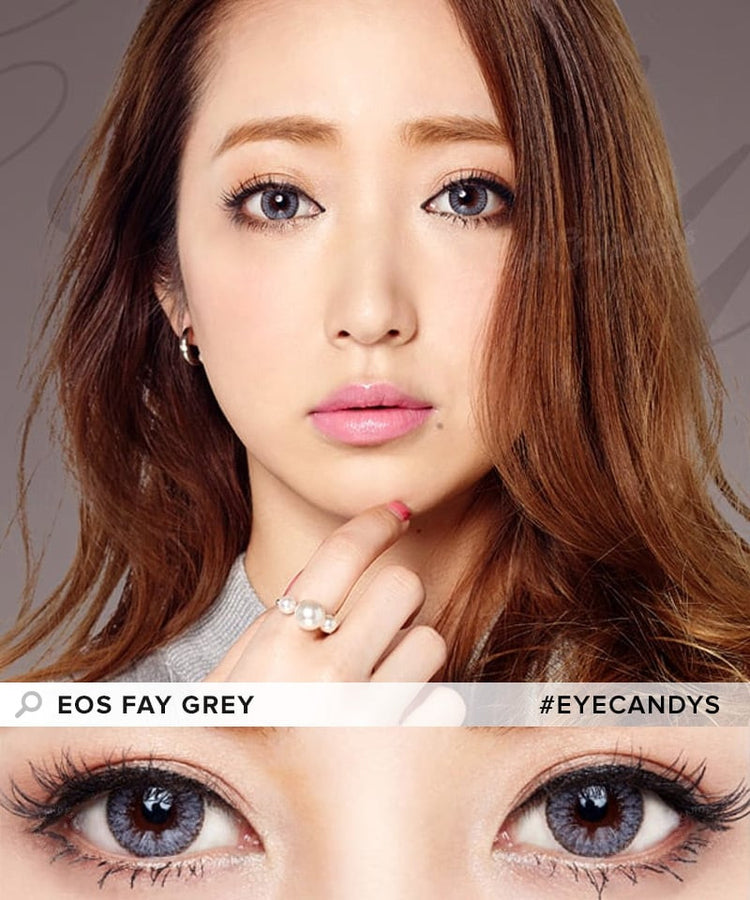 Buy EOS Fay Grey Eye Contacts | EyeCandys