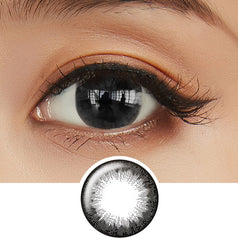 EOS Mini Sclera Black colored contacts circle lenses - EyeCandy's