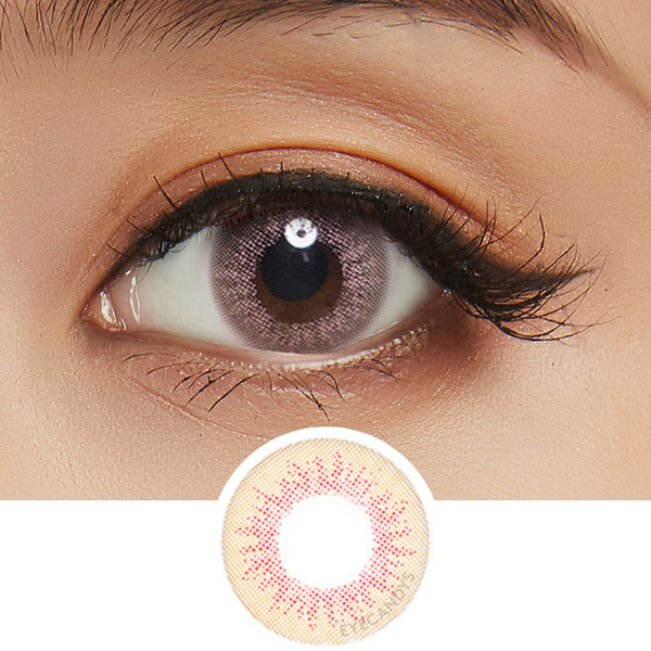EyeCandys Pink Label Euro Brown colored contacts circle lenses - EyeCandy's