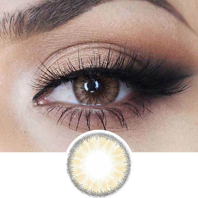 EyeCandys Desire Toffee Brown colored contacts circle lenses - EyeCandy's