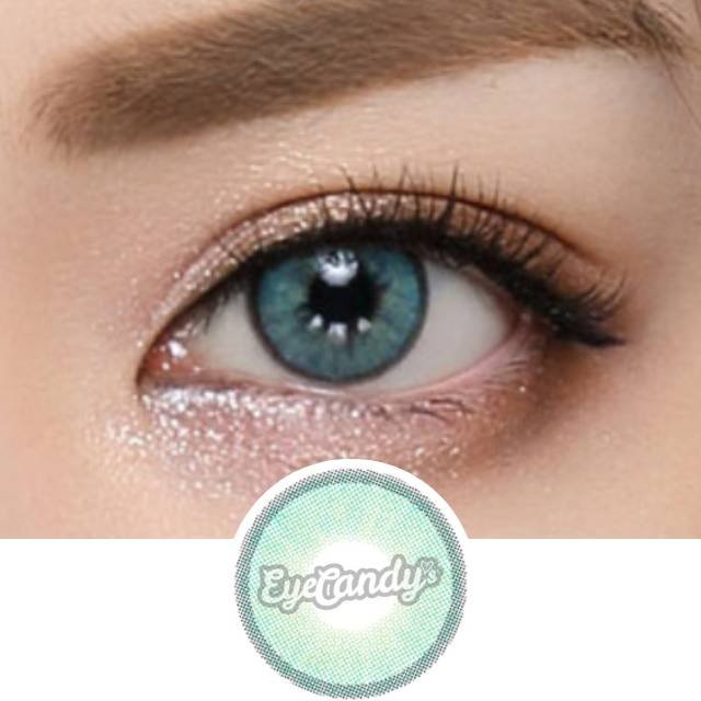 EyeCandys Glossy Blink Aqua colored contacts circle lenses - EyeCandy's