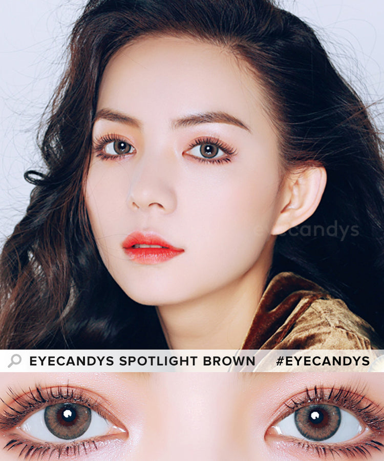 Buy EyeCandys Spotlight Brown Colour Contact Lens | EyeCandys