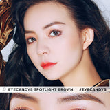 Load image into Gallery viewer, EyeCandys Spotlight Brown colored contacts circle lenses - EyeCandy's