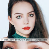 Load image into Gallery viewer, EyeCandys Spotlight Green colored contacts circle lenses - EyeCandy's