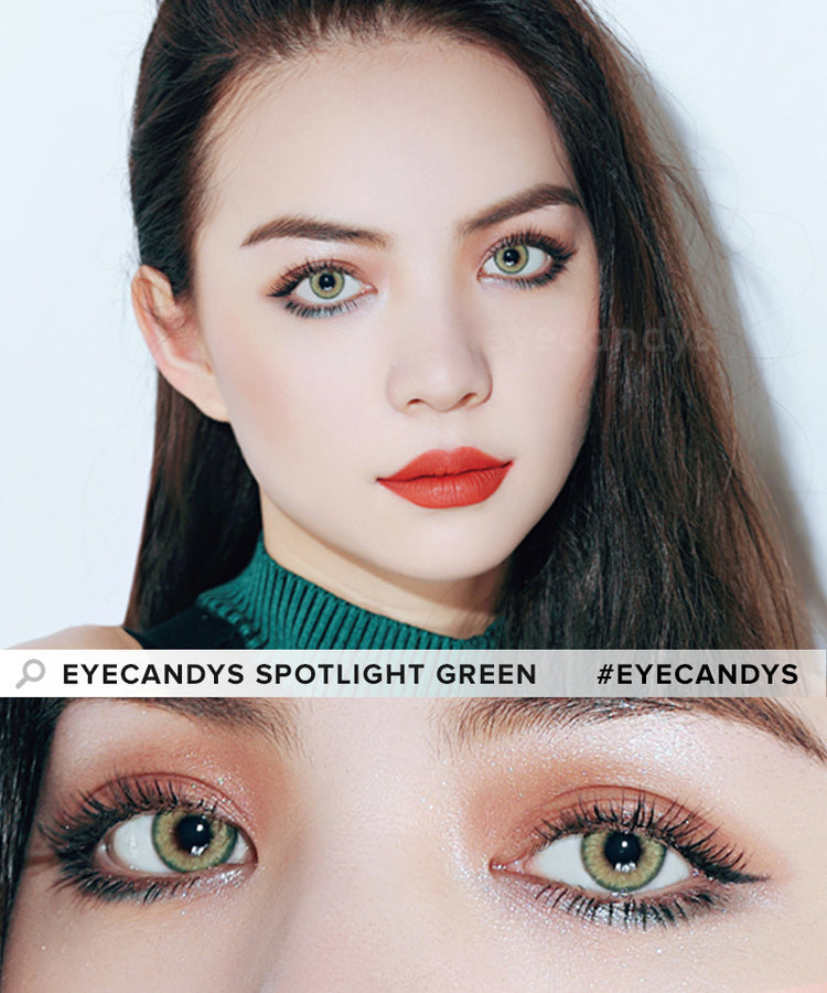 Buy EyeCandys Spotlight Green Colour Contact Lens | EyeCandys