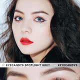 EyeCandys Spotlight Grey colored contacts circle lenses - EyeCandy's