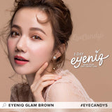 GEOLICA Eyeniq Glam Brown colored contacts circle lenses - EyeCandy's