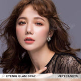 Load image into Gallery viewer, GEOLICA Eyeniq Glam Grey colored contacts circle lenses - EyeCandy's