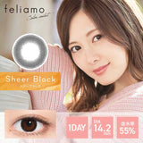 Feliamo 1-Day Sheer Black colored contacts circle lenses - EyeCandy's