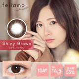 Load image into Gallery viewer, Feliamo 1-Day Shiny Brown colored contacts circle lenses - EyeCandy's