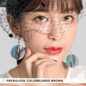 Freshlook Colorblends Brown colored contact lenses - EyeCandys