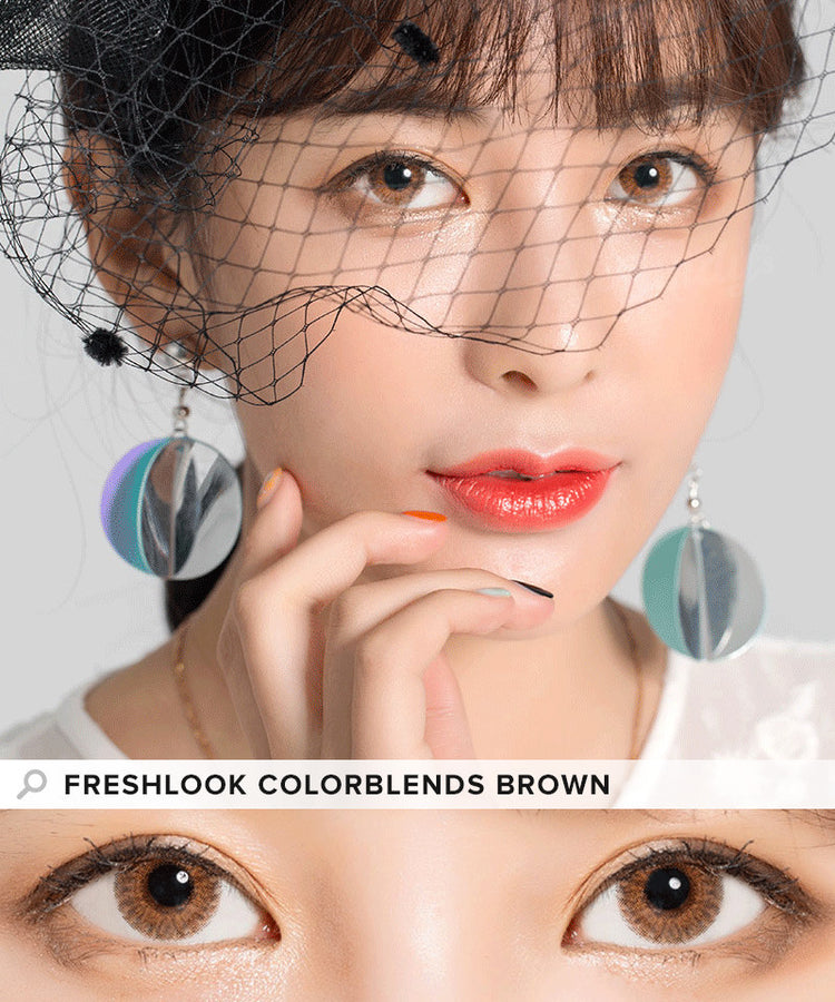 Buy Freshlook Colorblends Brown Colored Contacts | EyeCandys