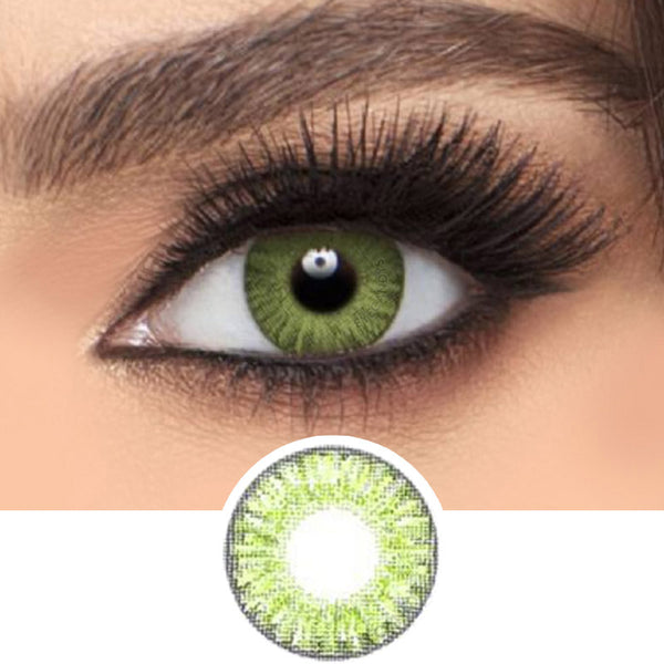 Freshlook Colorblends Gemstone Green colored contacts circle lenses - EyeCandy's
