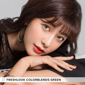 Freshlook Colorblends Green colored contacts circle lenses - EyeCandy's