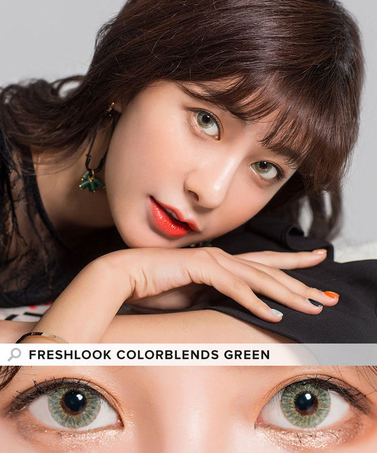 Buy Freshlook Colorblends Green Colored Contacts | EyeCandys