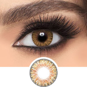 Freshlook Colorblends Honey colored contact lenses - EyeCandys