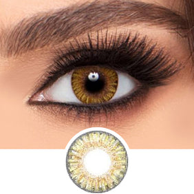 Freshlook Colorblends Pure Hazel colored contact lenses - EyeCandys