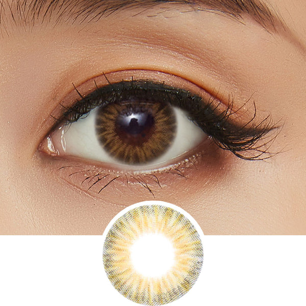 EyeCandys Starburst Brown colored contacts circle lenses - EyeCandy's