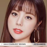 EyeCandys Pink Label Starburst Brown colored contacts circle lenses - EyeCandy's