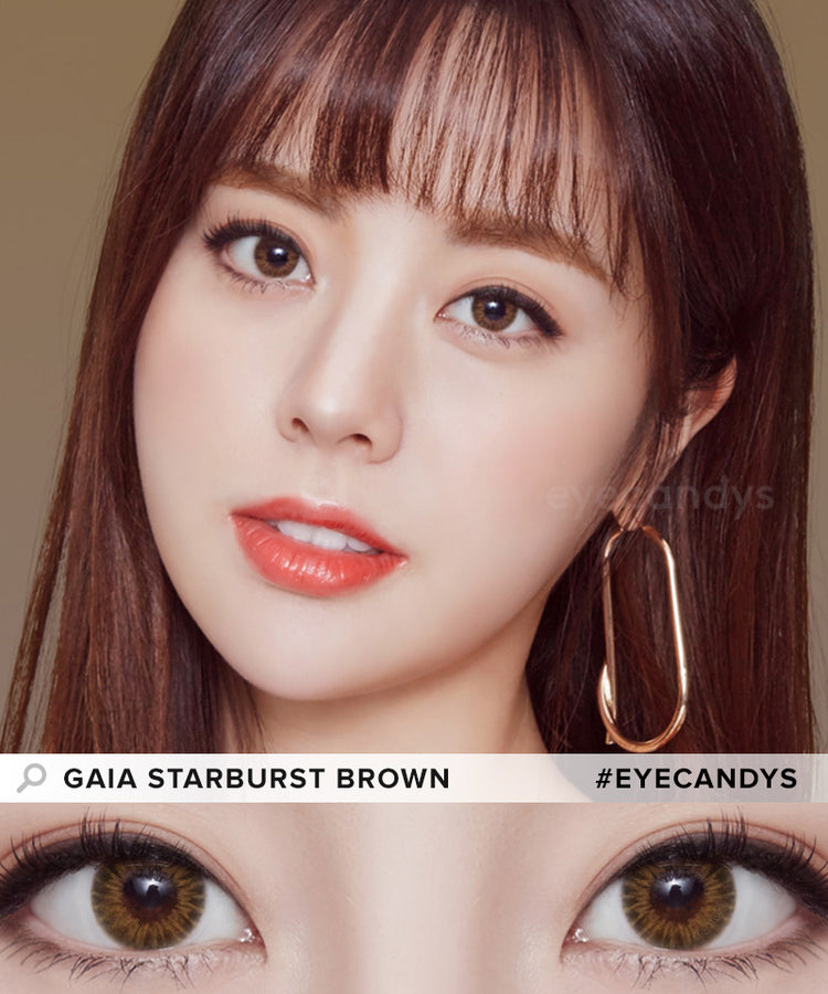 Buy Starburst Brown Color Contacts | EyeCandys