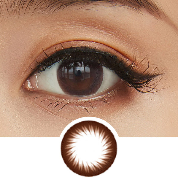 GEO Annex Ring Brown colored contacts circle lenses - EyeCandy's