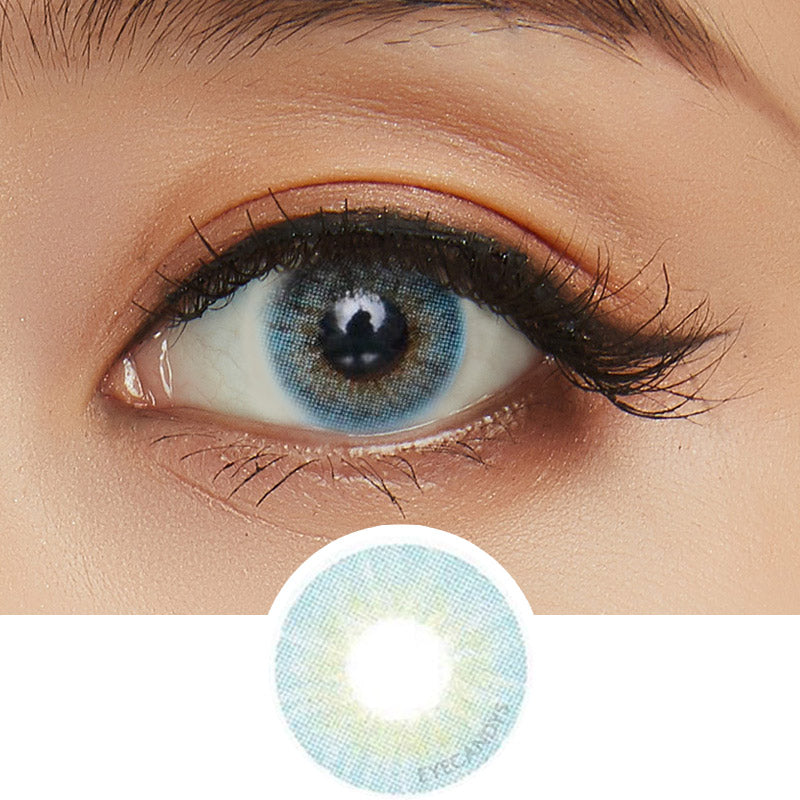 GEO Blenz Chic Blue colored contacts circle lenses - EyeCandy's
